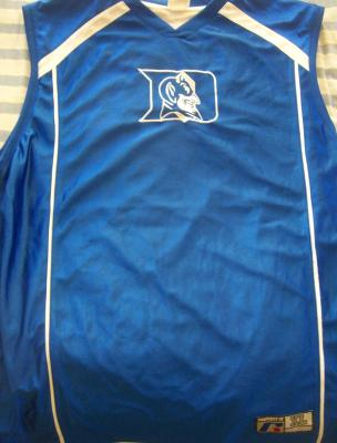 Duke Blue Devils throwback Russell Athletic basketball replica jersey