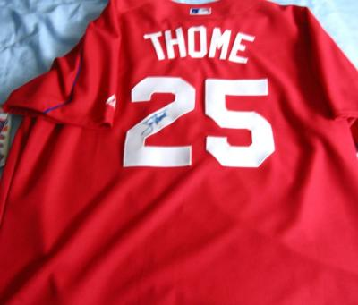 Jim Thome autographed Philadelphia Phillies authentic batting practice jersey