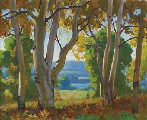 Art: Paintings;Impressionist painter 1879-1960 Ontario, Canada.