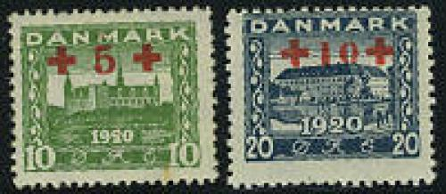 Red Cross overprints 2v