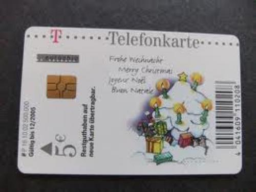 CHRISTMAS phone card from Germany