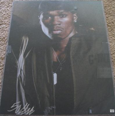 50 Cent autographed 16x20 poster size photo