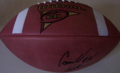 Carnell Cadillac Williams autographed Wilson NCAA leather football