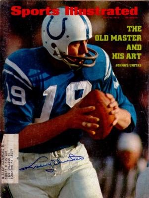 Johnny Unitas autographed Baltimore Colts 1972 Sports Illustrated