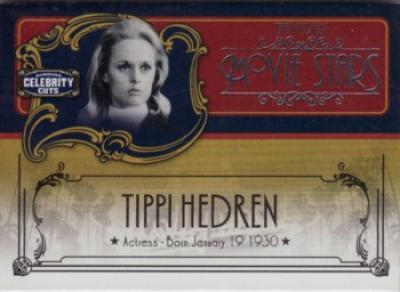 Tippi Hedren Donruss Americana Celebrity Cuts insert card #66/200