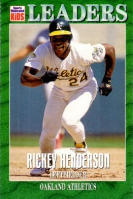 Rickey Henderson 1997 Sports Illustrated for Kids card