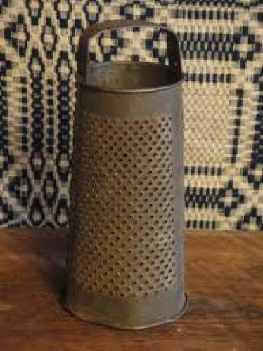 Antique Old Large Round Grater