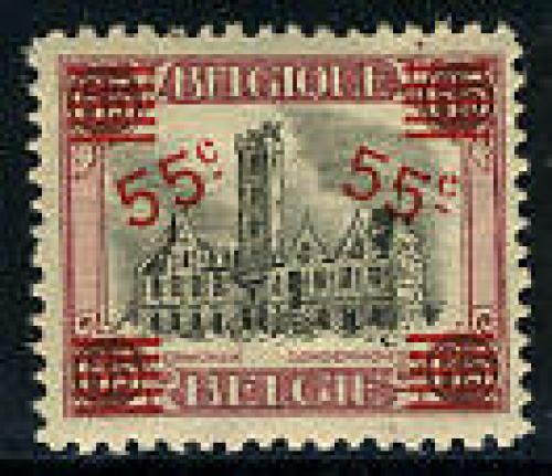 Overprint 1v, Dendermonde; Year: 1921
