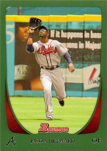 2011 Bowman Green #21 ~ Jason Heyward