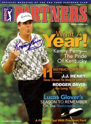 Kenny Perry autographed PGA Tour golf magazine