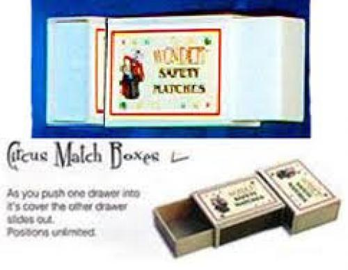 CIRCUS MATCH BOXES, close up magic, illusion, magic trick