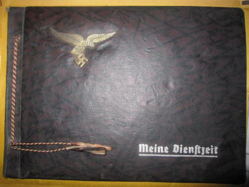 ORIGINAL WW2 GERMAN LUFTWAFFE LARGE EMPTY PHOTO ALBUM