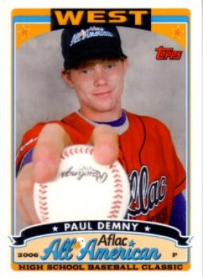 Paul Demny 2006 AFLAC Topps Rookie Card
