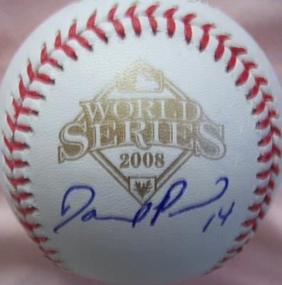 David Price autographed 2008 World Series baseball