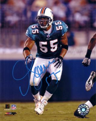 Junior Seau autographed 8x10 Miami Dolphins photo