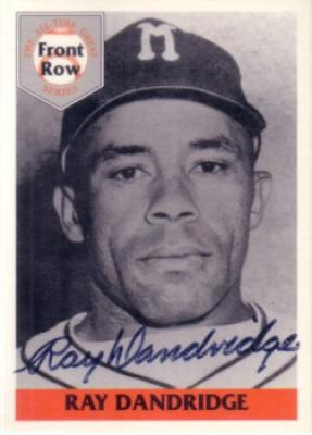Ray Dandridge autographed Front Row card set