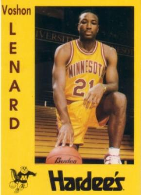 Voshon Lenard Minnesota 1991-92 pre-Rookie Card