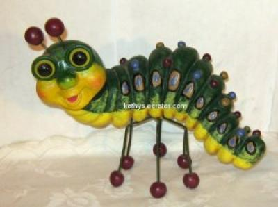 Statue: Bobblehead Resin Catepillar Patio Garden Large Figurine