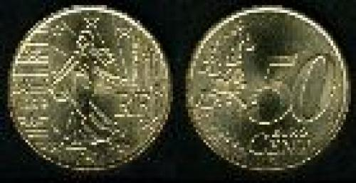 50 cents; Year: 1999-2002; (km 1287); Oro nórdico (Cu89Al5Zn5Sn1)