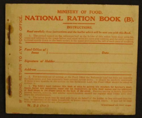 World war 1 british unissued ration book