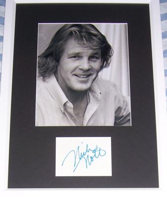 Nick Nolte autograph matted & framed with 8x10 photo