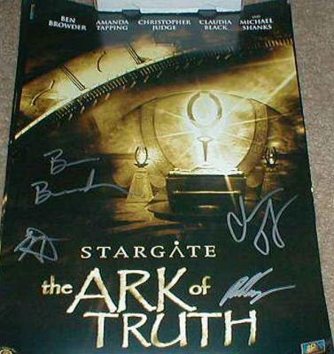 Stargate Ark of Truth autographed poster Ben Browder Christopher Judge