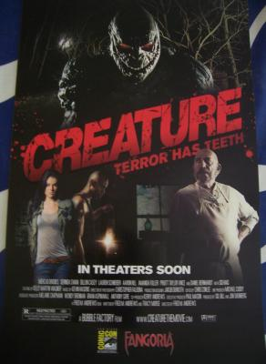 Creature movie 2011 Comic-Con exclusive promo poster MINT