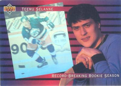 Teemu Selanne 1993-94 Upper Deck insert card #SP4