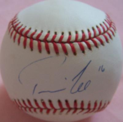 Travis Lee autographed NL baseball