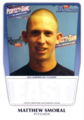 Matthew Smoral 2011 Perfect Game Topps Bowman Rookie Card (AFLAC)