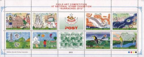 "Pakistan Child Art Competition, National Stamp Exhibition ""KURRACHEE - 2012"""
