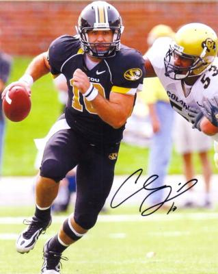 Chase Daniel autographed Missouri 8x10 photo