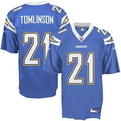 LaDainian Tomlinson San Diego Chargers powder blue semi authentic Reebok jersey