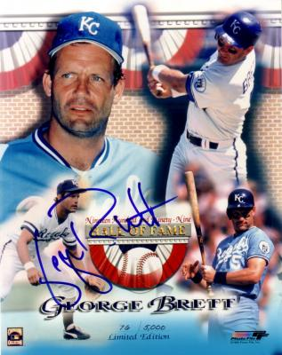 George Brett autographed Kansas City Royals 1999 Hall of Fame 8x10 photo