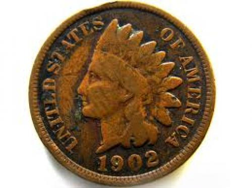 Coins; 1902 ONE CENT USA COIN J552
