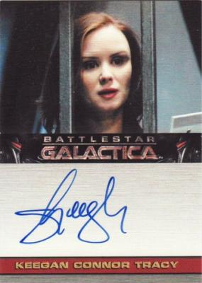 Keegan Connor Tracy Battlestar Galactica certified autograph card