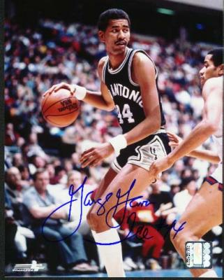 George Gervin autographed 8x10 San Antonio Spurs photo