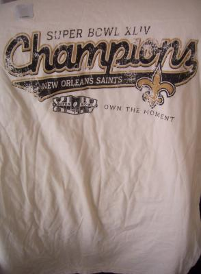 New Orleans Saints Super Bowl 44 Champions T-shirt NEW