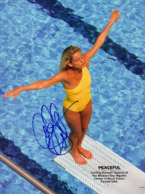 Carling Bassett-Seguso autographed full page swimsuit photo
