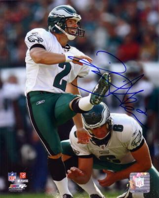 David Akers autographed 8x10 Philadelphia Eagles photo