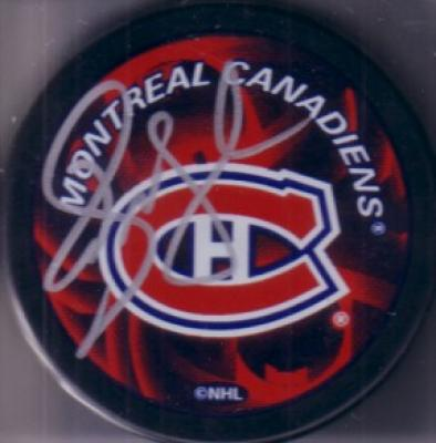Alexei Kovalev autographed Montreal Canadiens puck