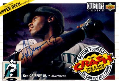 Ken Griffey Jr. autographed Seattle Mariners 1994 Upper Deck jumbo display card