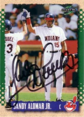 Sandy Alomar Jr. autographed Cleveland Indians 1995 Score card