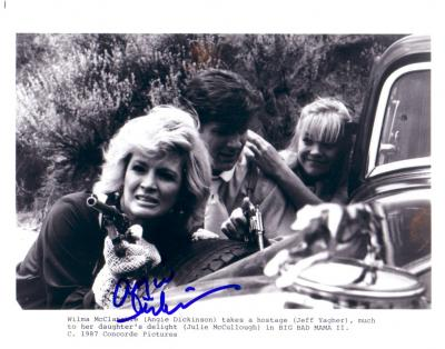 Angie Dickinson autographed 8x10 Big Bad Mama 2 publicity photo
