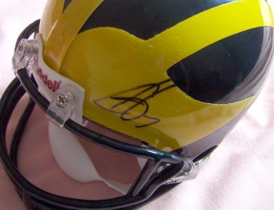 Chad Henne autographed Michigan mini helmet