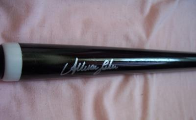Allison Fisher (billiards) autographed cue stick