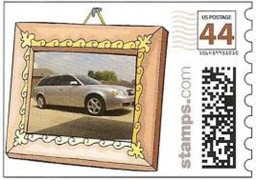 Stamps US;  Another version of the 2003 Audi A6 on a personalized stamp.