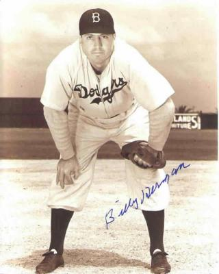 Billy Herman autographed Brooklyn Dodgers 8x10 photo