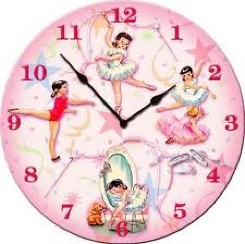 Decorative wall clock featuring vintage Ballerinas