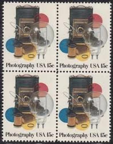 Stamps; United States - Photography - Block 4 Stamps